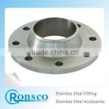 stainless steel fittings for corrugated stainless steel pipe/tube polish flat