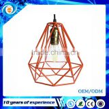 Loft Industrial Style Multicolor Edison Modern Metal Wire Frame Ceiling Pendant Hanging Light Lamp Lampshade Cage Fixture