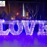 LOVE decorative led alphabet letters nice outdoor large led letters LOVE 3d lighted letters