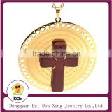 Best Selling Gold Plated Stainless Steel Religious Cross Jesus Crucifix Rood Bible Prayer Chain Spanish/English Big Pendant