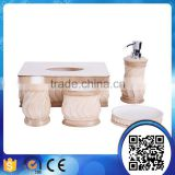 Hot Sale Hotel Euro Style White Lotion Dispenser Resin Bath Accessory Sets Factory