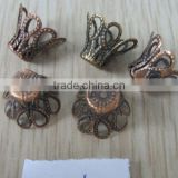 Brass flower shape jewellery finding bead cap