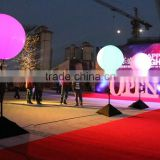 High Quality decoration LED standing lighting sphere ,colorful inflatable standing balloon with tripod