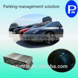 Battery wireless parking sensor with automatic parking system for parking lot occupancy detection