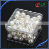 cheap wholesale high quality one hole round loose ABS black pearl