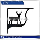 Deer Pattern Wrought Iron Wall Shelf Bracket