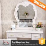 Bedroom Furniture Dresser Gloss White Dressing Table With Mirror