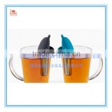 Wholesale cute animal shark shaped Silicone tea Infuser, dolphin shaped Silicone Tea Strainer,Silicone Tea Filter