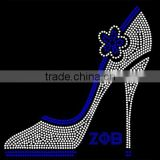 Zeta Phi Beta Rhinestone Transfer iron on high shoe hot fix design