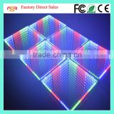 CE LVD EMC FCC IP65 Waterproof Panel Mirror Time Tunnel Abyss Effect SMD5050 3in1 RGB 50x50cm 3D LED Dance Floor Light