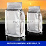 zipper silver plastic foil bag Aluminum Foil packaging Bag/Aluminum foil zip lock bag pouch