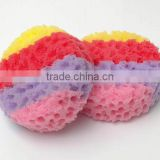 Hot sale various shape body bath sponge,available in various color,Oem orders are welcome