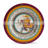 "New Product Luxury 12"" Gold Rim Bone China Charger Plates"