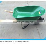 6CU/FT Heavy Duty Wheelbarrow Garden Green Wheel Barrow With Pneumatic Tyre With Wooden Handle