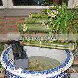 Custom green bamboo garden water fountains /water spouts