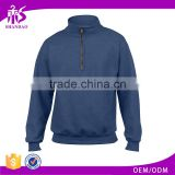 2017 Guangzhou Factory 60% Polyester 40% Cotton Fashion Jersey Long Sleeve Quarter Zip Sweatshirts