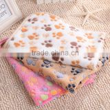 Pet mats thick blanket Cat Dog Puppy Kitten Warm Waterproof Fleece Soft Blanket Bed Mat Paw Print New