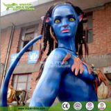 Amusement Park Decoration Life Size Fiberglass Statue of Avatar