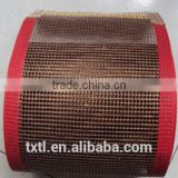 "a ptfe teflon mesh belt PTFE coated fiberglass conveyor belt open mesh with DuPont's "" teflon"" trademark"