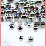 316l stainless steel piercing jewelry jeweled balls with gems high polished accessories replacement parts hotsale