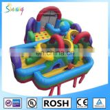 huge inflatable obstacle course, inflatable obstacle race for amusement