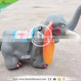 KAWAH Cute Cartoon Artificial Elephant Kids Ride For Sale Made In China