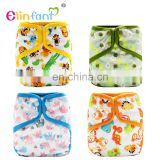 Elinfant popular adjustable cloth diaper cartoon Print baby diapers resuable diaper cover