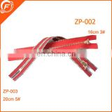 red color nylon zipper slider for garments