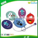 Winho oval shape plastic gift tape measure keychain for promotion