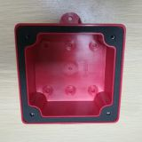 Red firefighting electric fire alarm bell can with water proof base