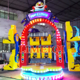 Fun children indoor rides games machines happy circus ride fun clown