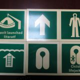 Photoluminescent safety  signs emergency  sign