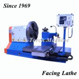 Hot sale facing horizontal CNC Lathe for turning threading pipes, flange, mold, impeller
