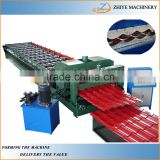 metal roofing glazed sheets cold forming machine /colored steel roofing tiles roll making line