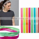lastest design slip proof top quality fashion fancy girls ladies hairbands for sports yoga running