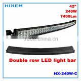 LED double row light bar 240W with C.R.E.E led 3W*80 PCS, Super bright 7400lm, 10-30V, 6000K led work light bar.