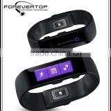 2016 christmas gift bluetooth bracelet with vibration, caller ID and bracelet chip,smartbracelet device