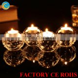 2015 new ball crystal glass candle holder for decoration gift
