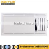 Ceiling mounted bathroom PTC master heater with LED light and white color B3126A CCC certification is available