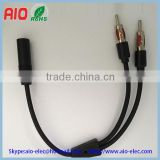 CAR RADIO ANTENNA SPLITTER Y ADAPTER FEMALE TO 2 MALE,Motorola (DIN) 1 Female to 2 Male Adapter