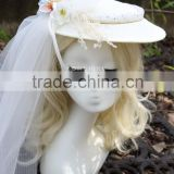 2016 new Europe American Wedding Sinamay Hat and veils SM-53