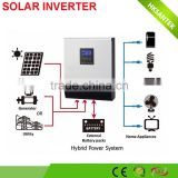 pure sine wave dc 24v to ac 230v 2kva 3kva solar inverter with solar controller for solar power system