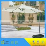 waterproof parasol with led light garden hanging side stand