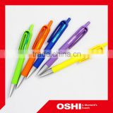 Best sell OEM wholesale colorful plastic ballpoint ball-point pen advertisement free sample