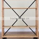 Chinese Antique Furniture Simple Bookcase with Wheel LWD475
