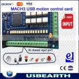 2014 newest 4 Axis USB Mach3 motion control card, Four axis breakout interface board for CNC Router