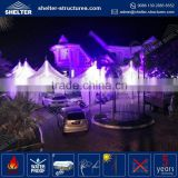 Reasonable price selected material PVC coated fabric promotional booth tent booth canopy pulling purple gazebo with curtains