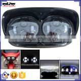 BJ-HL-018 Waterproof Ultra Bright Aluminum Housing Clear PC Lens Black LED Motorcycle Headlight