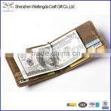 Factory hot sell real leather rfid wallet blocking cards with money clip                                                                         Quality Choice