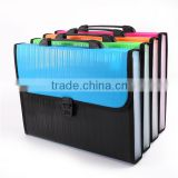 New arrival office pp file expanding document folder A4 FC size plastic decorative expanding file wallet with